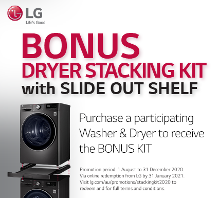 LG Bonus Dryer Stacking Kit Black