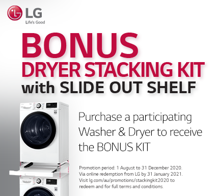 LG Bonus Dryer Stacking Kit White