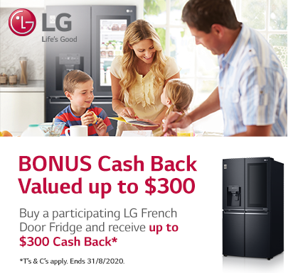LG French Door Fridge Cashback
