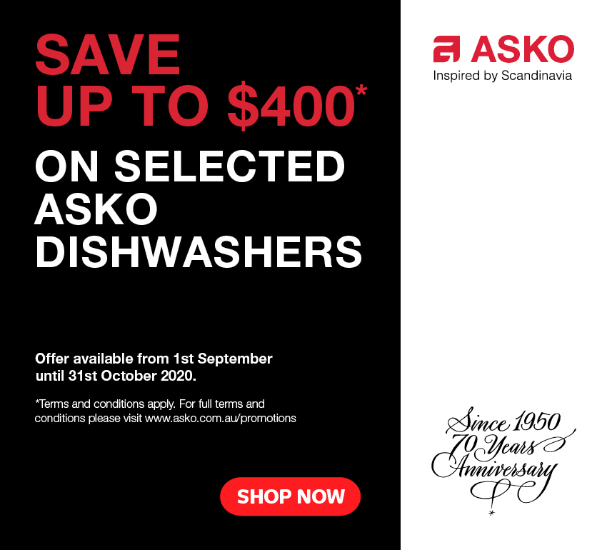 Save Up To $400 On Asko Dishwashers