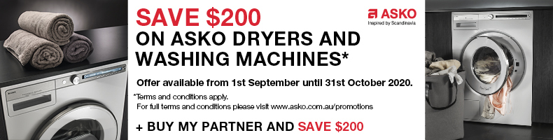 ASKO Save up to $200 on Washer & Dryers