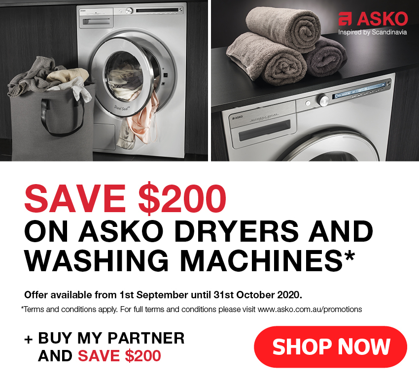 Save $200 On Asko Washers & Dryers