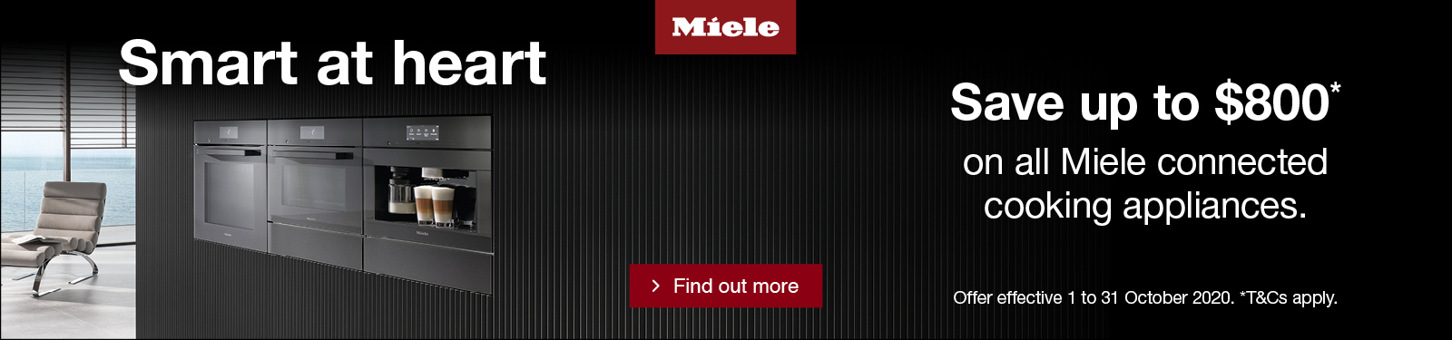 Miele Save up to $800 on Cooking