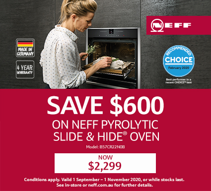 NEFF Save Up To $600 On Selected Ovens