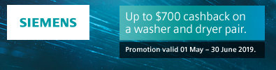 Siemens Up to $700 Cashback on Laundry