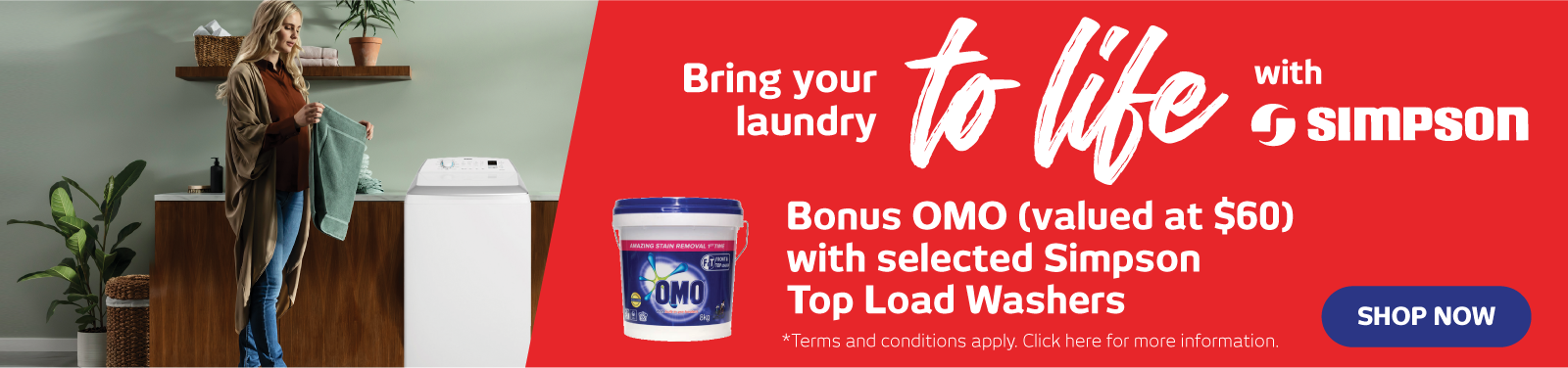 Laundry Catalogue/Bonus Omo with Simpson Washers