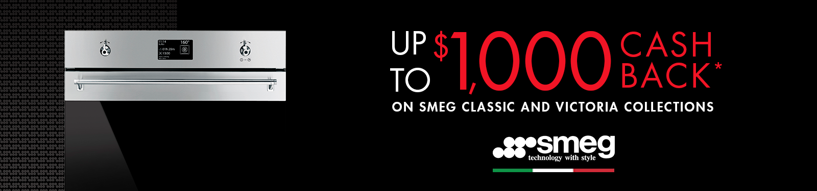 Smeg Up to $1000 Cashback