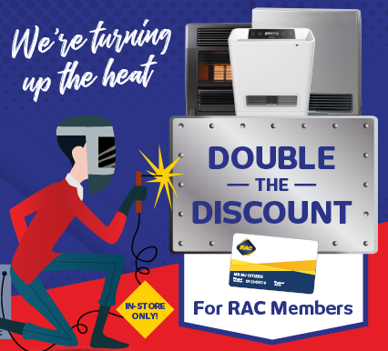 RAC Double Discount on Heaters
