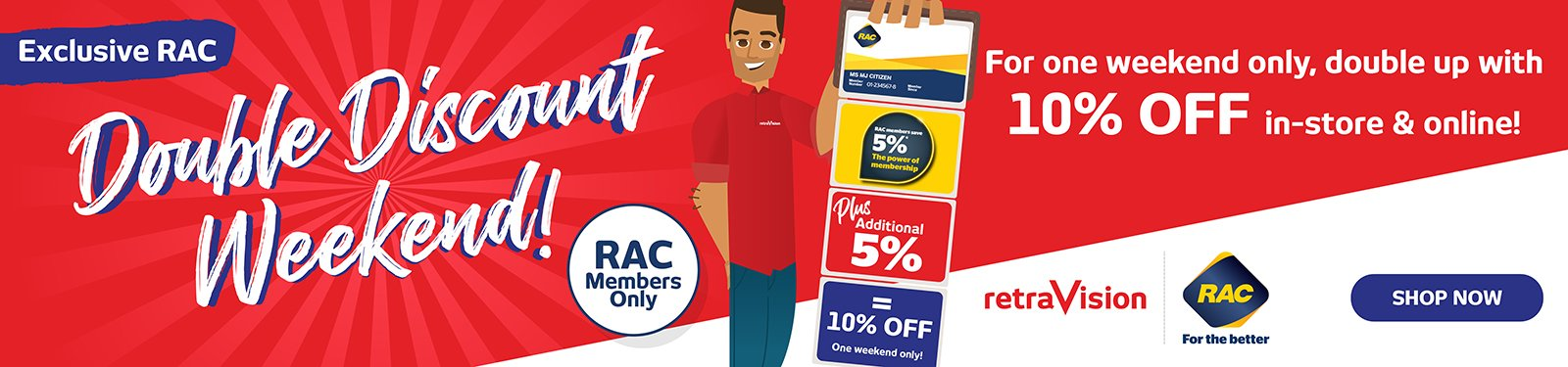 RAC Double Discount Weekend Sale