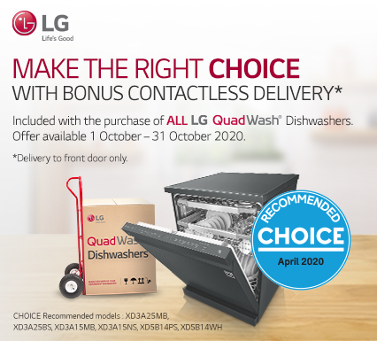 LG Free Delivery on Dishwashers