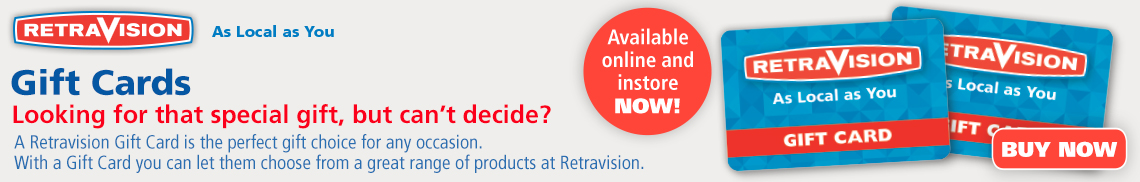 Retravision Gift Cards are the perfect gift
