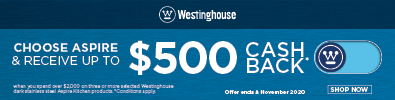 Westinghouse up to $500 Cashback
