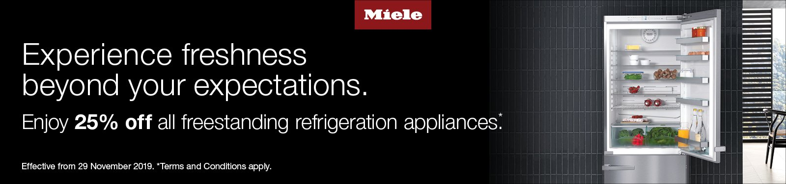 Miele 25% Off Freestanding Fridges