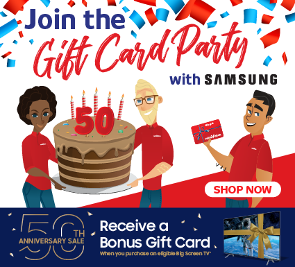 Samsung 50 Years Gift Card Offer