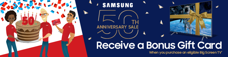 Samsung 50 Years - Gift Cards with TVs