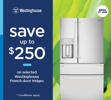 Westinghouse Save $250 On French Door Refrigerators