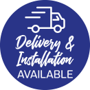 Delivery and installation available